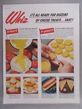 Kraft Cheez Whiz PRINT AD - 1953