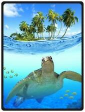 And Comfortable Sea Turtle Pattern Bed/Sofa Soft Throw Blanket 58x80inch (Large)