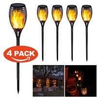 1/2/4PCS 96 LED Waterproof Flickering Flame Solar Torch Light Outdoor Path Lamp