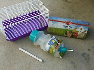 Kaytee Take Me With Pet Travel Carrier Medium Gerbil Hamster with Water Bottle
