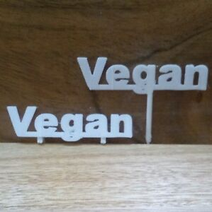 Vegan Table Sign Buffet Party Food Allergy Tableware Catering Nuts Gluten Free