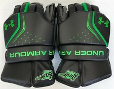 "New Saskatchewan Rush Nll Under Armour box lacrosse goalie gloves large 14"" lax"