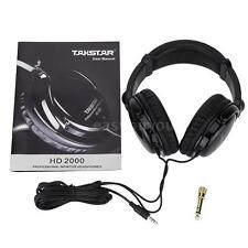 Takstar HD2000 Headphones Audio Mixing Studio Recording & DJ For Guitar D6S7