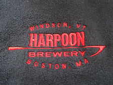 HARPOON BREWERY - Boston, MA Windsor, VT Beer Embroidered Terry Cloth (LG) Vest