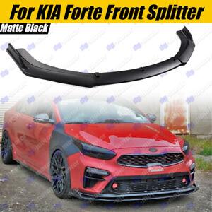 For Kia Forte Sedan Hatch Front Splitter Bumper Spoiler Body Kit Matte Black