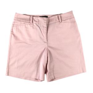 Talbots Womens Chino Shorts Size 6 Pink Cotton Blend Flat Front Slash Pockets