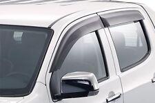 Genuine Isuzu D-MAX Slimline Weathershields Front & Rear Shields Easily Fitted