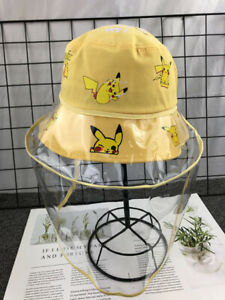 Kids Bucket hat Face Shield Baby Sunhat Outdoor Dust-proof for 4 to 12 years Cap