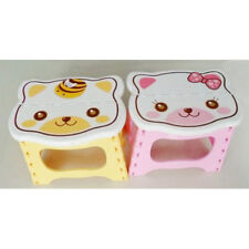Cute Cartoon Cat Easy Foldable Children Step Very Firm Stool-Pink ED