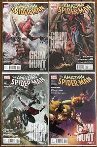 The Amazing Spider-Man #634 - 637 Grim Hunt - Kraven - Gauntlet - NM/NM-
