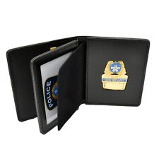 Perfect Fit Montreal SPVM Police Badge Case Double ID Pocket Leather Document