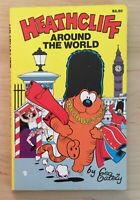 Vintage Paperback Heathcliff Around the World by George Gately 1989 Comic Book