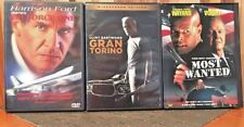 Thriller 3-Movie DVD Lot- Gran Torino, Air Force One, Most Wanted