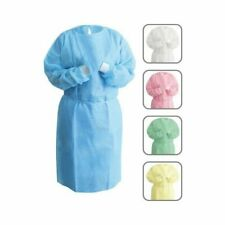 Nivo Disposable Isolation Gown Blue With Knit Cuff Dental Medical 10pk 50pk