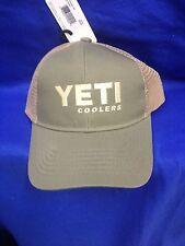 New Yeti Trucker Hat Olive Green Tan Mesh One Size Trucker / Snap Back