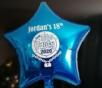 Lockdown birthday THE AFTER PARTY PERSONALISED FOIL BALLOON rude funny novelty