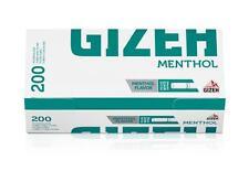 10 x 200 Gizeh Mentho Tip Filterhülsen Zigarettenhülsen