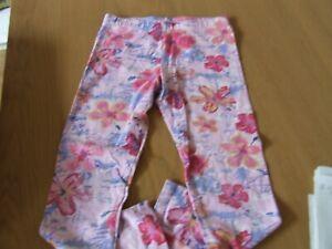 GEORGE PINK FLOWERED LEGGINGS 8/9 YRS