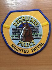 PATCH POLICE DESMOINES  MOUNTED PATROL IOWA IA STATE