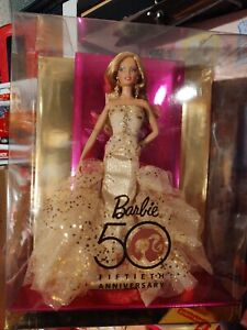 2008 50th Anniversary Gold Glamour Barbie designed by Robert Best