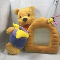 Disney Store Honey Pot Bees Winnie The Pooh Plush Exclusive With Photo Frame