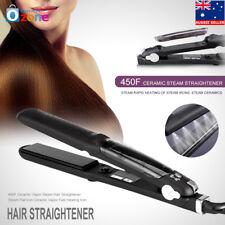 Professional Ceramic Hair Straightener Steam Styler Flat Iron For Dry & Wet 55W