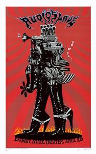 MINT & SIGNED EMEK 2005 Audioslave Detroit Poster 50/200