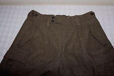 Vintage German BEGEMANN Military Heavy Wool Cargo Pants Mens 36 x 32 Green