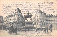 CPA 77 NEMOURS LA RUE DE PARIS HALLE AUX VEAUX (dos non divisé)