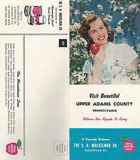 Upper Adams County Pennsylvania Vintage Travel Brochure CH Musselman Co Apples