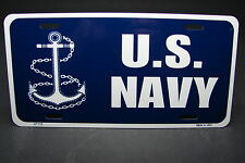 US NAVY METAL NOVELTY LICENSE PLATE  BLUE TAG