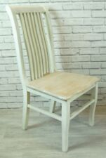 Dining Kitchen Chair Country style in a French Cream and washed Wooden Seat