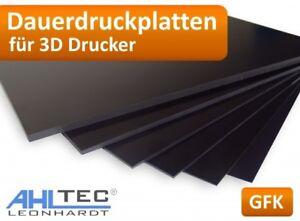 GFK 3D Drucker Dauerdruckplatte für ABS PLA PETG HIPS PMMA Filament Druckplatte