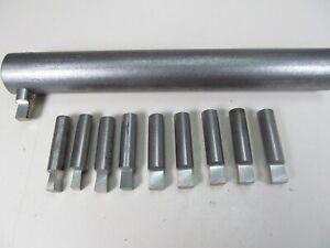 10 HSS Nutenhobelstähle 4 / 5 mm + Halter Hobelmeißel Nuten- Hobelstahl