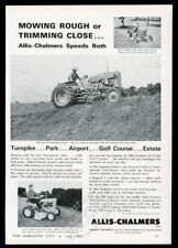 1962 Allis-Chalmers D-10 and B-1 tractor photo vintage trade print ad