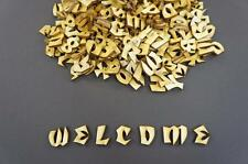 250+ Wooden Small (2cm) Adhesive Letters & Digits Craft Alphabet Decoration NF35