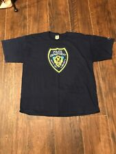 Grand Theft Auto 4 Rock Star Games Blue T-Shirt Police Department XL