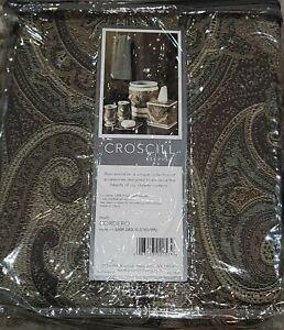 Croscill Cordero Shower Curtain and 12 Hooks New Paisley