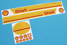 Tamiya Truck FUEL TANKER Trailer SHELL style stickers decals 14th scale  1:14