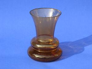 Blumenvase Glasvase Vase Tischvase orange durchscheinend rund ca. 18cm hoch