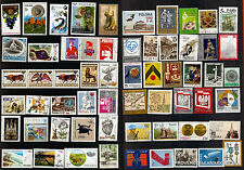 110T4 POLOGNE 59 timbres oblitérés sujets divers
