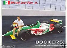 Michel Jourdain Jr 2000 Dockers auto racing promotional picture signature card