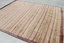 R652 Handmade Tibetan Woolen Area Rug 8' x 10' Stripe on Multi Color MI Nepal