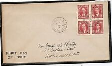 Canada SC # 233 George VI BLK4 FDC.  Uncacheted