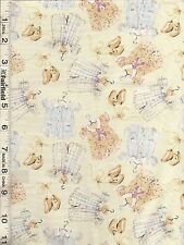 Cream Lovely Baby Clothes Fabric by David Textiles bty PRICE REDUCED