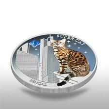 Fiji 2013 Super Cat Ii The Bengal Dogs & Cats Series 1 Oz Proof Silver Coin