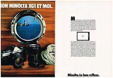 PUBLICITE ADVERTISING 054 1979  MINOLTA  XGI   appareil photo ( 2 pages)