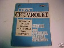 1975 CHEVROLET ORG  CHASSIS SHOP MANUAL