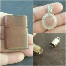 Mini Flacon a sel cristal Art Nouveau - salt bottle