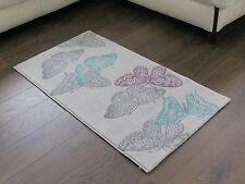 Aspect 80 X 150 Cm Polyproplene Open Butterfly Area Rug in Light Grey Background